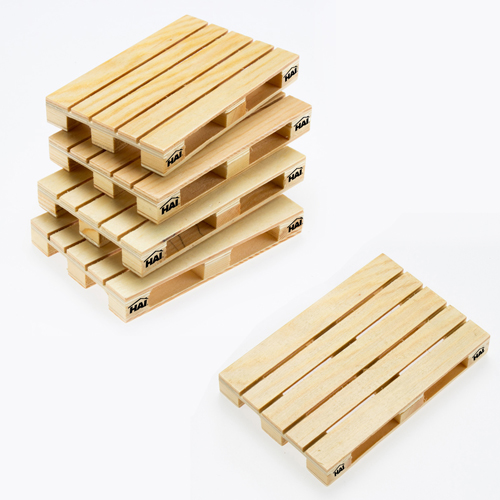Simulation Mini Wood Pallet Coasters Image 3