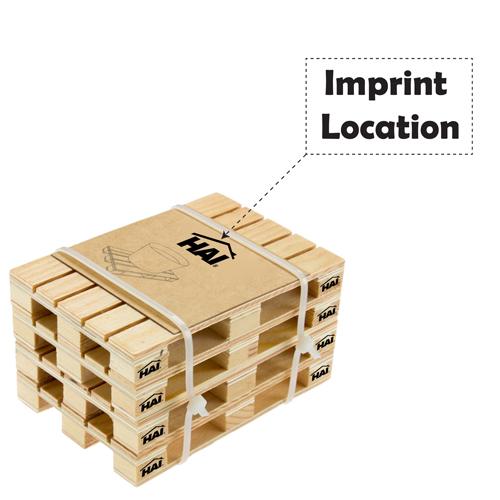 Simulation Mini Wood Pallet Coasters Imprint Image