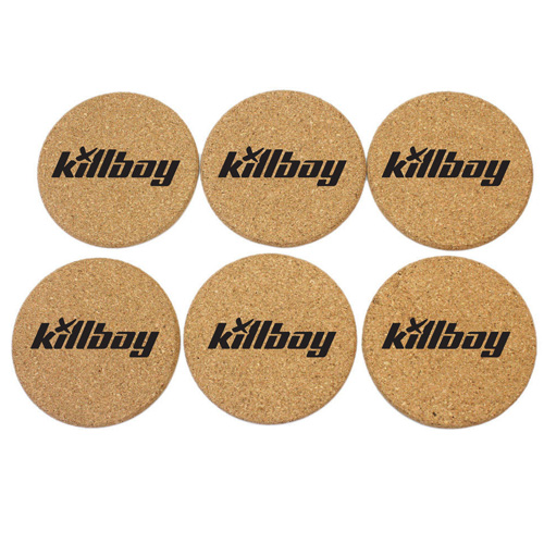 Round Shape Plain Cork Coaster Mat Image 2