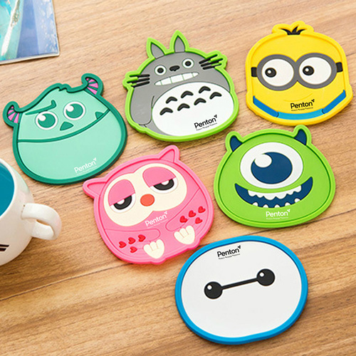 Cartoon Silicone Coaster Insulation Mat Image 1