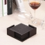 Square 6 Leather Coasters With Holder