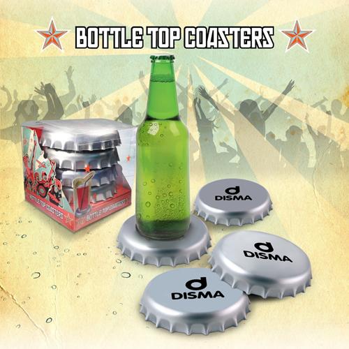 Spinning Giant Bottle Cap Coasters Image 3