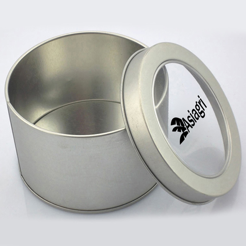 Transparent Round USB Metal Box Image 3