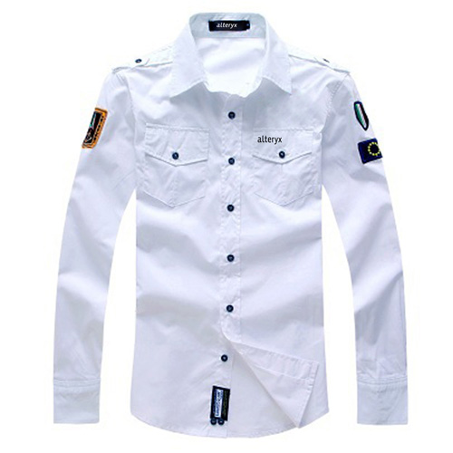 Army Military Men Casual Cotton Shirt