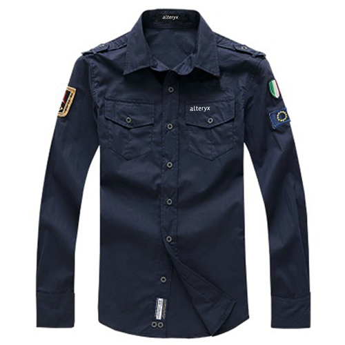 Army Military Men Casual Cotton Shirt Image 1