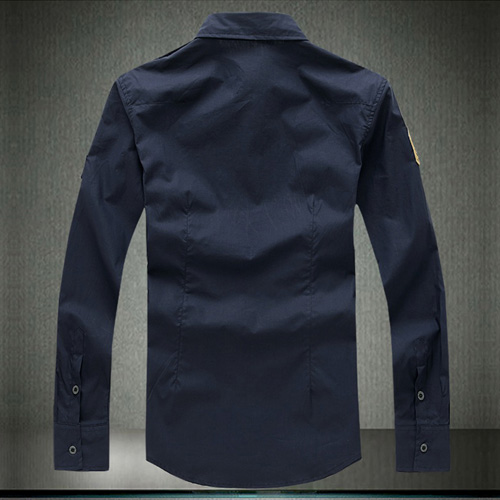 Army Military Men Casual Cotton Shirt Image 4