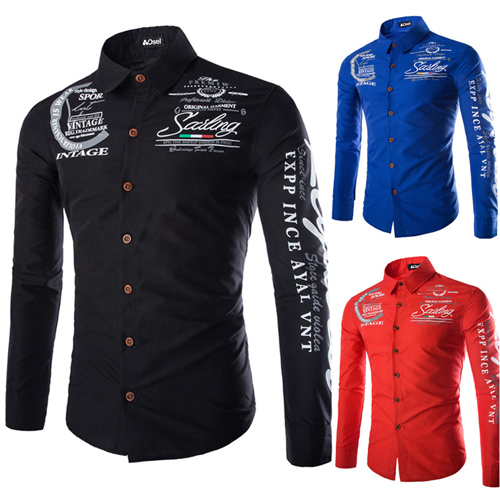 Slim Design Long Sleeve Shirt Image 2
