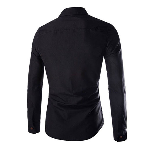 Slim Design Long Sleeve Shirt Image 4