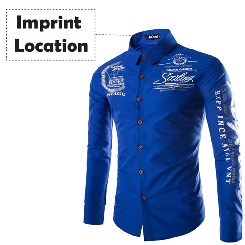 Slim Design Long Sleeve Shirt Imprint Image