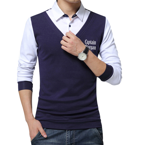 False Two Fashion Mens Shirts