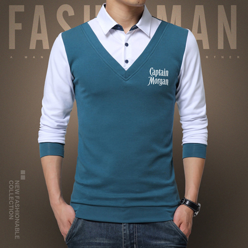 False Two Fashion Mens Shirts Image 4