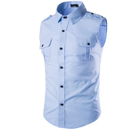Men Sleeveless Dress Shirts