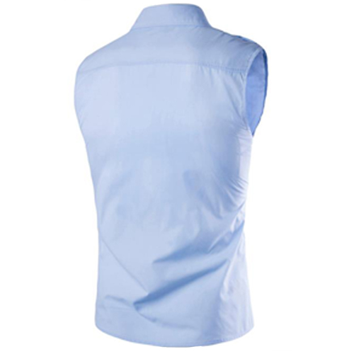 Men Sleeveless Dress Shirts Image 5
