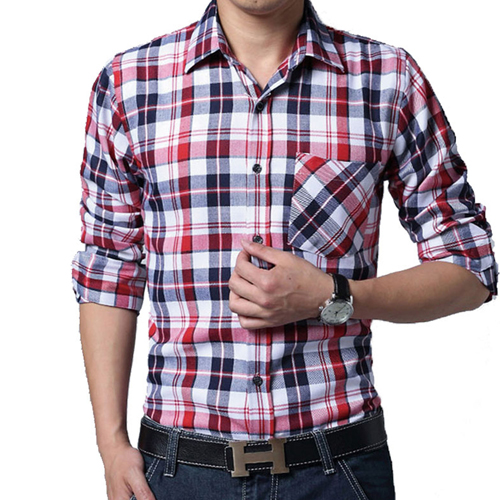 Big Size Men Lattice Shirt