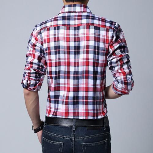 Big Size Men Lattice Shirt Image 1