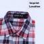 Big Size Men Lattice Shirt Imprint Image