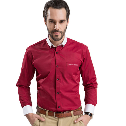 White Collar Mens Big Size Shirts