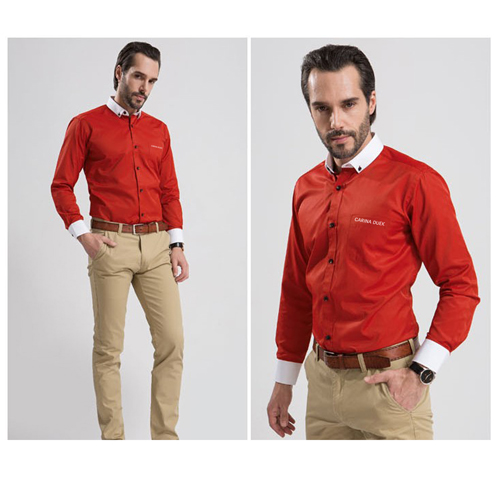 White Collar Mens Big Size Shirts Image 1