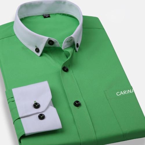 White Collar Mens Big Size Shirts Image 3
