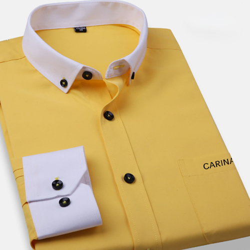 White Collar Mens Big Size Shirts Image 4
