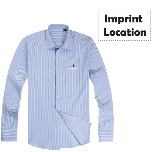 Long Sleeve Mens Business Formal Shirts Imprint Image