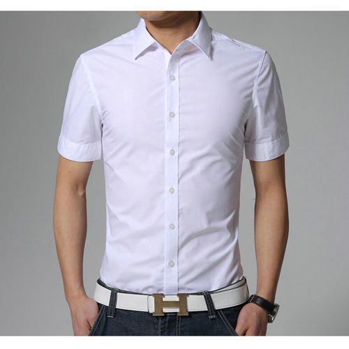 Short Sleeve Casual Summer Slim Fit Shirt Image 1