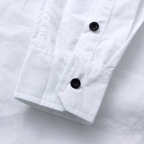 Number Printed Men Slim Dress Shirt Image 2