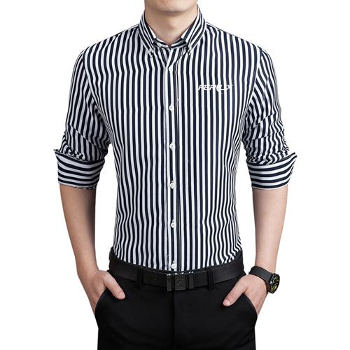 Striped Fashion Mens Dress Shirts