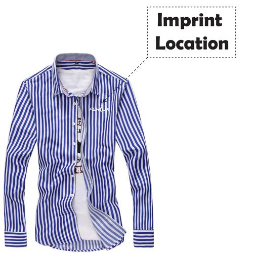 Striped Fashion Mens Dress Shirts Imprint Image