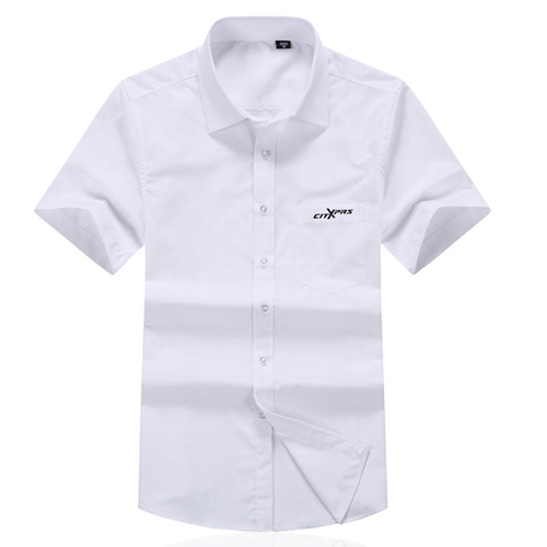 Short Sleeved Men Formal Cotton Shirts