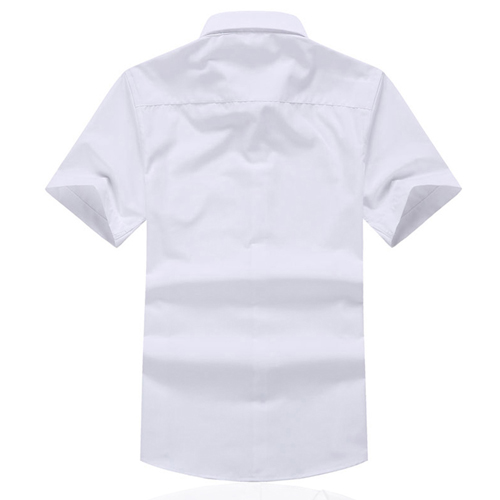 Short Sleeved Men Formal Cotton Shirts Image 1