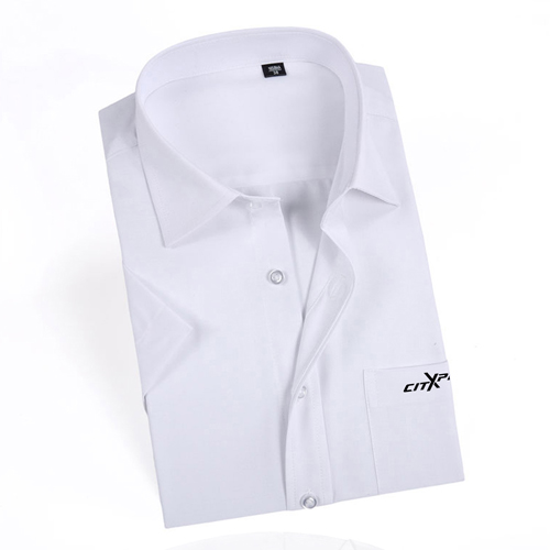 Short Sleeved Men Formal Cotton Shirts Image 2