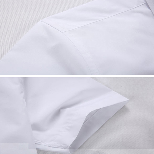 Short Sleeved Men Formal Cotton Shirts Image 5