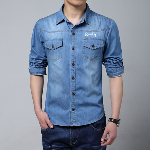 Autumn Fashion Slim Fit Jean Shirts Image 2