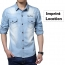 Autumn Fashion Slim Fit Jean Shirts Imprint Image