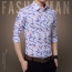 Long Sleeve Print Design Dress Shirts Image 2