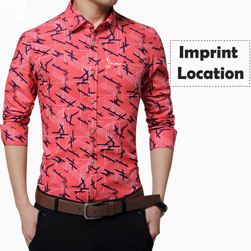 Long Sleeve Print Design Dress Shirts Imprint Image