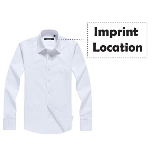 Long Sleeve Twill Dress Shirts Imprint Image