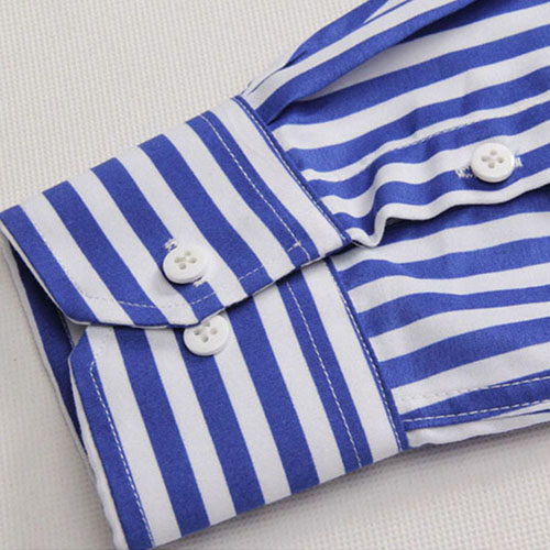 Striped Cotton Long Sleeve Dress Shirts Image 2