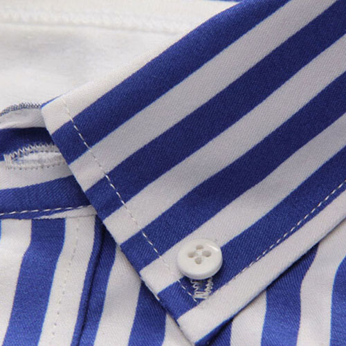Striped Cotton Long Sleeve Dress Shirts Image 3