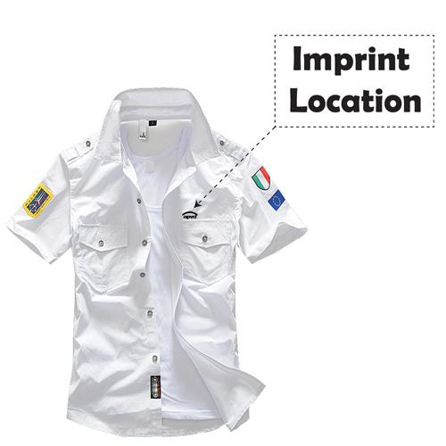 Mens Air Force Casual Shirts Imprint Image