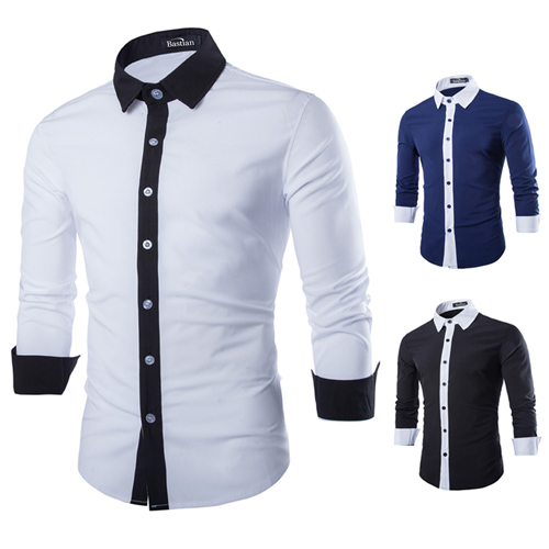Concise Fashion Mens Long Sleeve Shirt