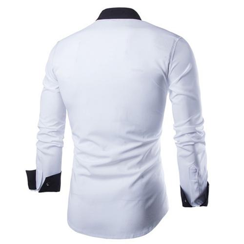 Concise Fashion Mens Long Sleeve Shirt Image 2