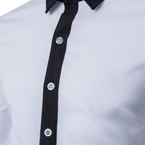 Concise Fashion Mens Long Sleeve Shirt Image 3