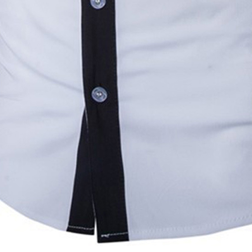 Concise Fashion Mens Long Sleeve Shirt Image 4