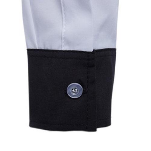 Concise Fashion Mens Long Sleeve Shirt Image 5