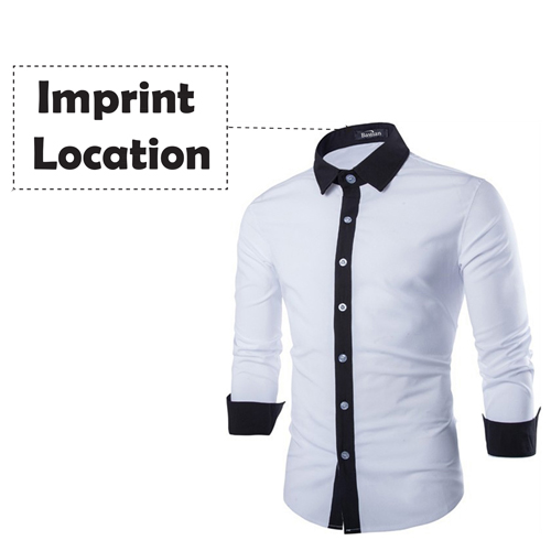 Concise Fashion Mens Long Sleeve Shirt Imprint Image
