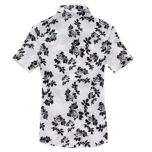 Mens Floral Print Short Sleeve Shirts Image 3