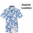 Mens Floral Print Short Sleeve Shirts Imprint Image
