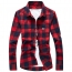 Long Sleeve Men Plaid Shirt